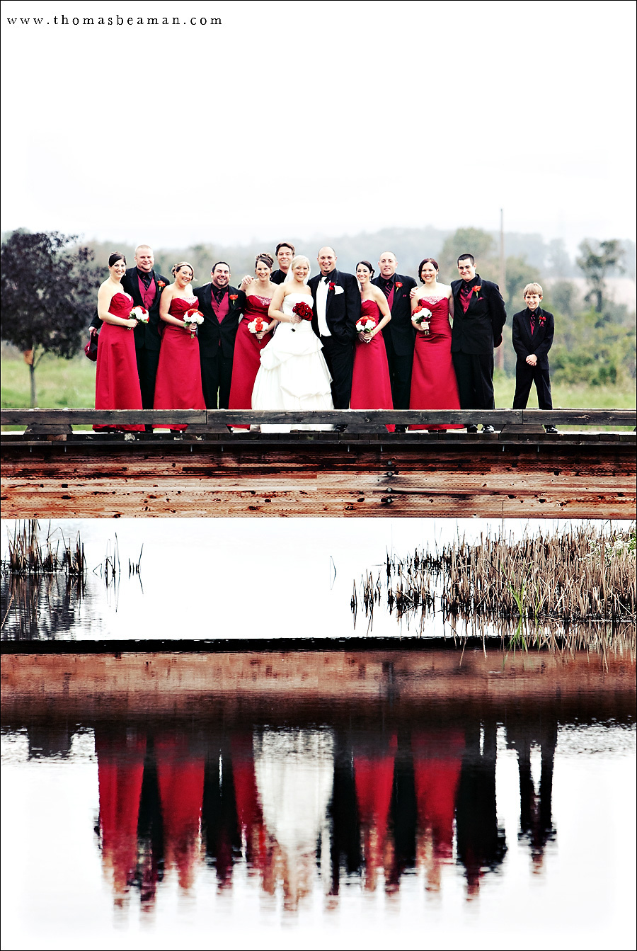 Stunning Red & Black Wedding From Riverview Country Club